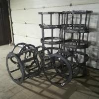 Металлический каркас для скамеек_1